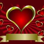 Grunge Valentines Vector Background — Stock Vector #4420354