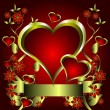 Royalty-Free Stock Imagem Vetorial: Valentines Hearts Vector Background
