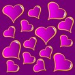 An abstract purple vector valentines background — Stock Vector