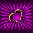 Purple and Gold Hearts Valentines Background — Stock Vector #4420380