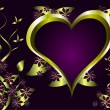 Purple Valentines Hearts Background — Stock Vector