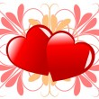 Royalty-Free Stock Vector Image: A red Valentines hearts vector background