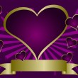 Purple Hearts Valentines Background — Vettoriali Stock