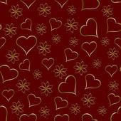 Une médaille d'or coeurs sans soudure fond saint valentin — Vecteur