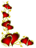 Un fondo de san valentín corazones rojos — Vector de stock