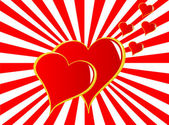 Valentines Hearts Background — 图库矢量图片