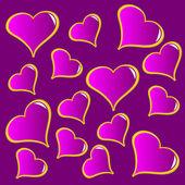 Abstraktní fialové vector valentinky pozadí — Stock vektor