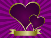 Purple Hearts Valentines Vector Illustration — Stock Vector