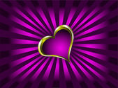 Purple and Gold Hearts Valentines Background — Stock Vector