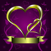 μωβ καρδιές του αγίου βαλεντίνου φόντο — Διανυσματικό Αρχείο