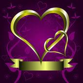 Purple Hearts Valentines Background — Stock Vector