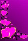 Uno sfondo vettoriale di cuori rosa san valentino — Vettoriale Stock