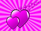Walentynki różowy tło — Wektor stockowy