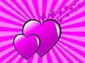 ピンクのバレンタインの背景 — ストックベクタ