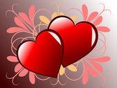 A geometric valentines vector illustration — Stock Vector