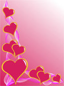 Valentines Day Vector Background — Stock Vector