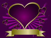 Purple Hearts Valentines Background — Stock Vector