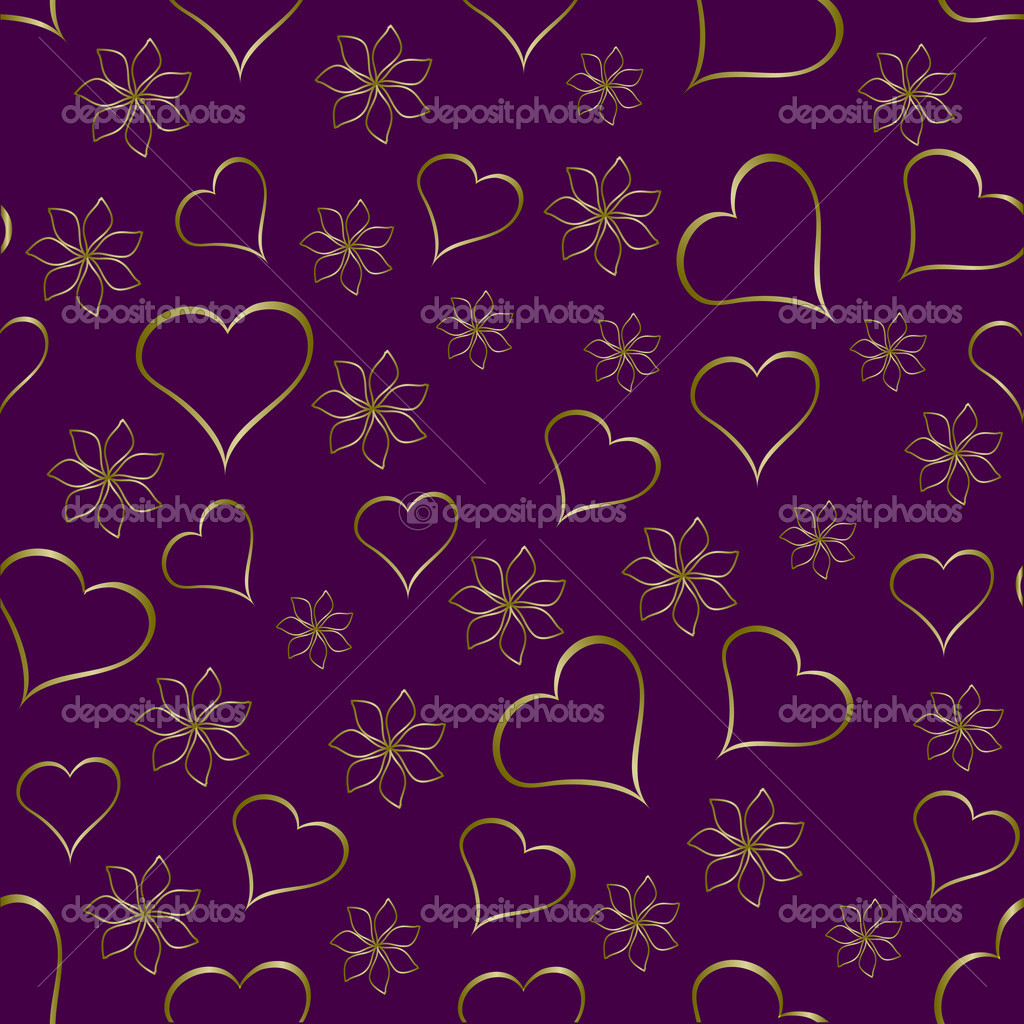 A gold hearts seamless valentines day background which can be tiled — Stock Vector #4420350
