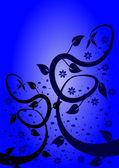 Sfondo floreale astratto blu — Vettoriale Stock