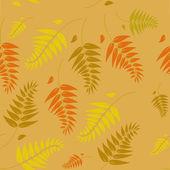 A seamless autumn vector background — Stock Vector
