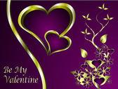 Un fond de valentines vector — Vecteur