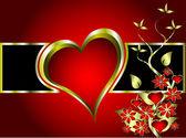バレンタインのベクトルの背景 — ストックベクタ