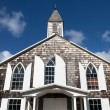 Old Style Woodedn Church Facad — Stock Photo