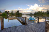 Dock on Lake — Stock Photo