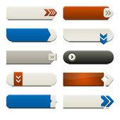 Flat Web Button Elements — Stock Vector