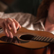 Young Musician Plays His Acoustic Guitar — Stock Photo