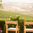 Stock Photo: Patio Chairs Overlooking Country