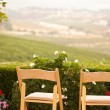 Patio Chairs Overlooking the Country — Stock Photo