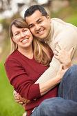 Attractive Mixed Race Couple Portrait — Stock Photo
