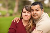 Attractive Mixed Race Couple Pose for a Portrait — Stock Photo