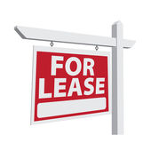 For Lease Vector Real Estate Sign — Stock Vector