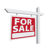 For Sale Vector Real Estate Sign — Stock Vector