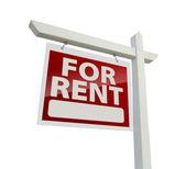 Sinistra affrontando per affitto immobiliare segno su bianco — Foto Stock