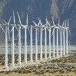 Dramatic Wind Turbine Farm — Stock Photo
