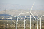 Dramatic Wind Turbine Farm and Desert — Stock Photo