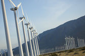 Dramatic Wind Turbine Farm — Stock Photo