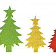 Sparkly paper trees — Stock Photo