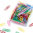 Plastic paper clips — Stock Photo