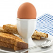 Boiled egg - Stock Photo