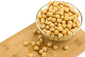 Chickpeas in glass dish — Stock Photo