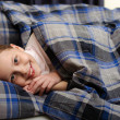Cute little girl. Sleeping in bed. — Stock Photo