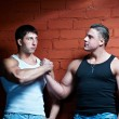 Two muscular guys — Stock Photo