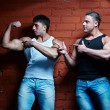 Two muscular guys — Stock Photo #4180188