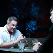 Two gamblers with cards — Stock Photo #4180192