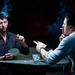 Two gamblers with cards — Stock Photo #4180230