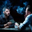 Two gamblers with cards — Stock Photo #4180233